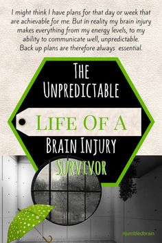 I might think I have plans for that day or week that are achievable for me. But in reality my brain injury makes everything from my energy levels, to my ability to communicate well, unpredictable. Back up plans are therefore always essential.Here's why even the best laid plans are no match for a brain injury....