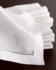 monogrammed napkins - monogram napkin - personalized embroidered