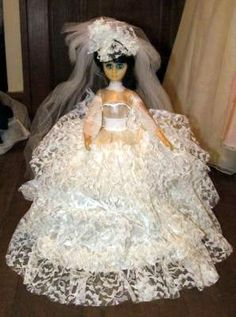 Vintage wedding doll
