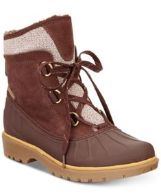 7a11ec510d18 Bare Traps Sitila Lace-Up Cold-Weather Boots  59.50 Faux fur and sweater  knit
