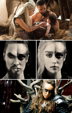 OH MY GOD mind blown haha Lexa from the 100 is totally Drogo and Khaleesi's child! Except for the whole 100 is in the future and Game of Thrones is in the past. Lexa The 100, The 100 Clexa, Game Of Thrones Funny, Hbo Game Of Thrones, Lexa E Clarke, Bellamy, The 100 Characters, Commander Lexa, The 100 Show