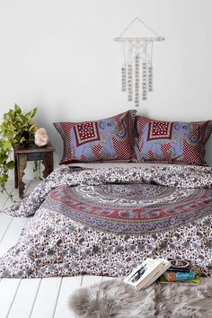 Magical Thinking Grey Elephant Stamp Duvet Cover - I like this one a lot!