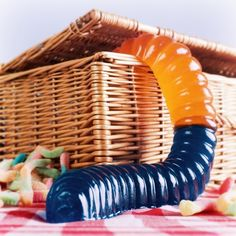 Giant Gummi Worm from Firebox.com  How cute would this be as part of a dessert table at a kids' event?!?!