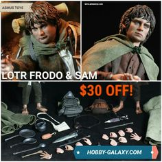 Asmus Toys Lord Of The Rings Frodo & Sam 1/6 Scale Action Figures Set! Only $209.99! $30 off MSRP!  Pre-Order at Hobby-Galaxy.com!  #lordoftherings #lotr #frodo #frodobaggins #samwisegamgee #hobbit #thehobbit #middleearth #fantasy #thelordoftherings #tolkien #jrrtolkien #swordandsorcery #actionfigures #actionfigure #onesix #onesixthfigure #onesixscale #onesixthrepublic  #hobbygalaxy