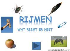 Digibordles: Wat rijmt niet. http://digibordonderbouw.nl/index.php/taal1/rijmen3