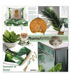"""""""Summer @ Home ~ Tropical Prints"""" by eyesondesign ❤ liked on Polyvore featuring interior, interiors, interior design, home, home decor, interior decorating, interiordesign, tropicalprints and TastemastersDesignGroup"""