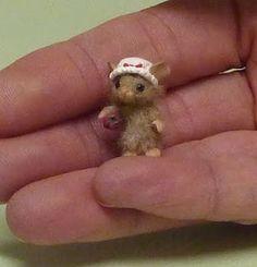 Tiny needle-felted mouse.
