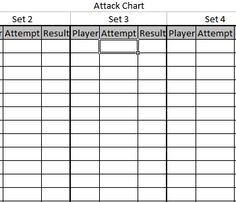 coaching diagrams/charts/stat sheets | Volleyball/Coaching ...