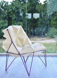 Triangle Chair by Agnieszka Mazurek, via Behance