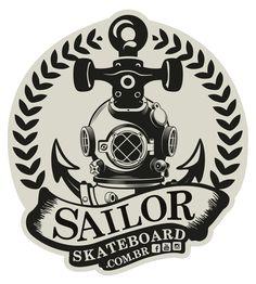 Adesivo #SailorSkateboard - Âncora Escafandro