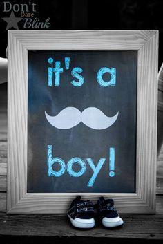 Boy Gender Reveal Photo Shoot - Don't Dare Blink www.dontdareblink.com