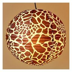 Giraffe paper latern. Baby room w Noah's ark theme? Maybe. gotta find a way to incorporate giraffes somehow =)