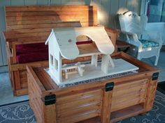 pricey wood products for kids inspired a request to build a stable for one of my grandkids....
