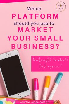 Which platforms are best when it comes to marketing your small business? Should you use Pinterest for business, or Instagram or Facebook? Each platform offers benefits depending on your marketing goals. #contentmarketing #pinterest #instagram #yoursocialbee Facebook Marketing, Social Media Marketing, Marketing Goals, Marketing Ideas, Content Marketing, Small Business Marketing, Business Tips, Online Business, Creative Business