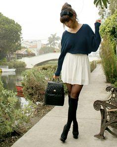 Lf Cropped Sweater, Brandy Melville Skirt, Vintage Bag