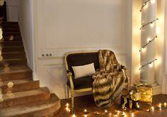 Warm stairs #texturainteriors #restroom #espacio #decor #dressyourhome #ambient #sofa #fundadecojín #pillowcase #warm #soft #plaid #blanket