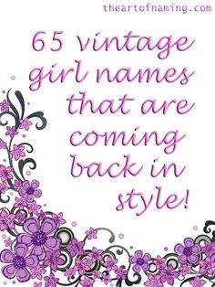 Is your favorite vintage girl name listed? #babynames ****WRITTEN IN NOTEBOOK****