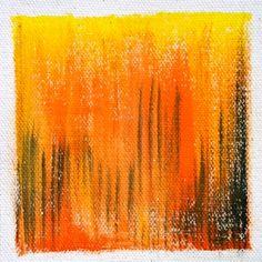 """Blazing"" - acrylic on canvas"