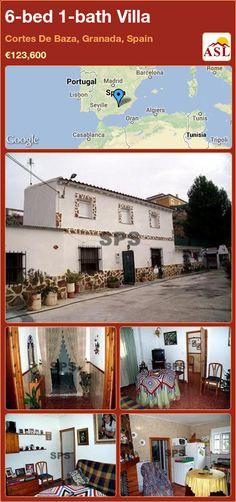 Villa for Sale in Cortes De Baza, Granada, Spain with 6 bedrooms, 1 bathroom - A Spanish Life Casablanca, Portugal, Barcelona, Granada Spain, Stones Throw, Closer To Nature, Double Bedroom, Ground Floor, Property For Sale