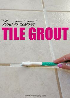 Diy Projects: Home Solutions: How To Restore Dirty Tile Grout