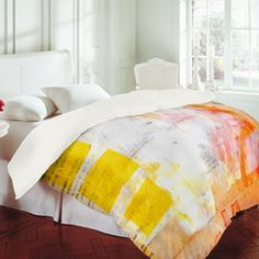 Buy Duvet Cover with Quirky Motifs designed by Rachael Taylor. One of many amazing home décor accessories items available at Deny Designs. Rachael Taylor, Blue Duvet, Oh Deer, Mellow Yellow, Bed Spreads, Home Decor Accessories, Tech Accessories, All Modern, Arquitetura
