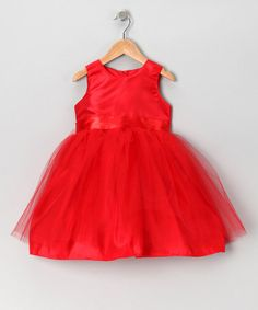 Take a look at this Red Ballerina Tulle Dress - Infant & Toddler by Noa Lily on #zulily today!