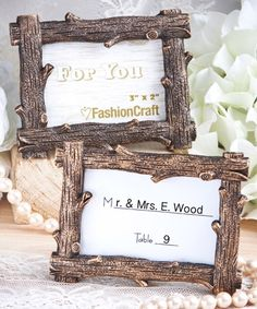 Rustic Wood Photo Frame - Rustic Party Favors - coupon code is freeshipping