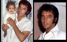 "Photo left: FAKE/ PHOTOSHOP pic of daddy Elvis with lisa (Notice the much too hairy arm.) Picture on the right: The (a bit cropped) ORIGINAL - Elvis, 1969 | Photo source: ""Elvis - Fake Photoshop Pics Revealed"" on facebook"