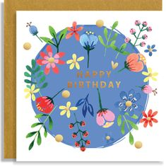 Birthday Confetti Gouache Hand-Embellished Hand-Illustrated Greeting Card Personalised - Personalized - Can Be Blank