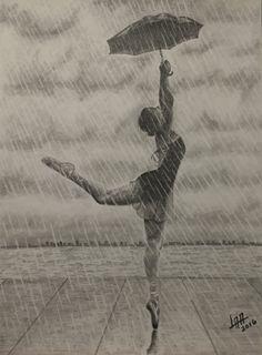 dancing under the rain de arteyayiloren en Etsy, láminas decorativas, ilustraciones, ilustration, pencil drawings, lápices de colores
