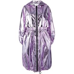 MSGM metallic oversized coat ($725) ❤ liked on Polyvore featuring outerwear, coats, purple, msgm, purple coats, msgm coat, metallic coat and oversized coats