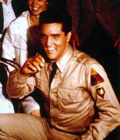 "Elvis in ""G.I. Blues""..1960.  My favorite this was released just after he got out of the US Army! I liked his hair short!!!"