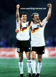 Lothar Mattheus - Rudy Voeller... winning world cup 1990