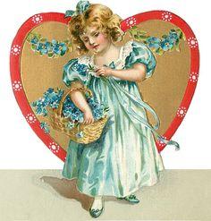 Wings of Whimsy: Valentine Heart Children Place Holders #vintage #ephemera…