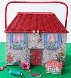 DIGITAL DECO - In Autumn/Winter 2012 we used digital printing techniques to lovingly create all of the tiny details that made up our country Cottage Sewing Basket. #craft #CathKidston