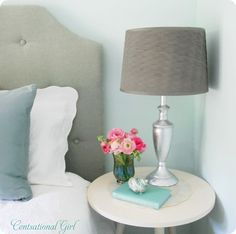 From Bronze to Silver: Lamp Transformed- we have 2 goodwill lamps I'm totally doing this for.