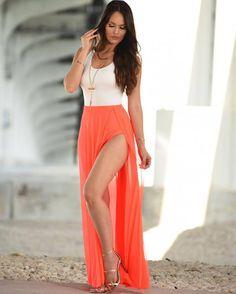 New Summer Style Sexy Skinny High Split Long Dress Women s Patchwork  Sleeveless Maxi Dress Casual Sundress 51f37bd77