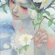 『静涼』 平野実穂 Miho Hirano 〈WEB〉mihohirano.strikingly.com 〈IG〉www.instagram.com/mihohiranoart 〈FB〉www.facebook.com/miho.hirano.5621 #Oilpainting #Artist #Mihohirano