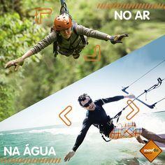 Qual a sua preferida: #Água refrescante ou #ar com #aventura? A gente <3 os dois!