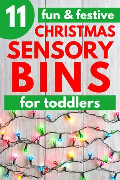 These fun and festive Christmas sensory bins for toddlers are just what you need to get your kiddo in the Christmas spirit! Toddler Sensory Bins, Sensory Bags, Sensory Bottles, Sensory Activities, Sensory Play, Toddler Preschool, Toddler Activities, Toddler Play, Motor Activities