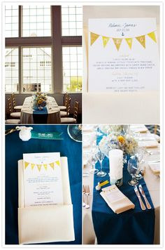 everything about this wedding's colors is amazing (yellows! blues!)