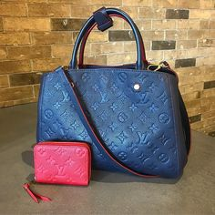 Loving this color combo! Call/text us at 813-382-9491 if you are interested in purchasing this LV Montaigne MM and LV Zippy Coin Purse! #newarrivals #louisvuitton #lvlover #empreinteleather #lvmontaignemm #lvzippycoinpurse #purseblog #purselover #designerconsignment #designerhandbags #mymoshposh #moshposhfinds