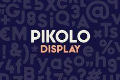 Pikolo Display Font by ideabuk on @creativemarket