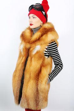 Helen Yarmak red fox fur vest