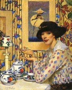 Its About Time: Tea - Raymond Perry Rogers Neilson (American) 1881 - 1964 - I know I've pinned this before but it's one of my favorites.