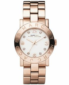 Marc by Marc Jacobs Watch, Women's Amy Rose Gold Ion Plated Stainless Steel Bracelet MBM3077 - Marc by Marc Jacobs - Jewelry & Watches - Mac...