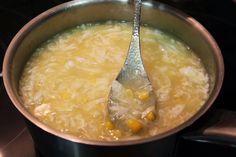 Recetas de cocina: Sopa China de Maiz, Jamon y Huevo