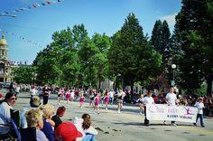 Club Twirl Baton Twirling.  Cheyenne WY Cheyenne Frontier Days Parade.  7/23/13 Photo: Natasha Parvin