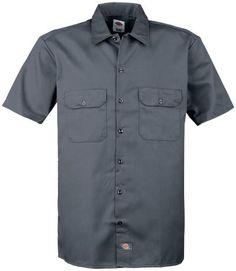 Burger King BK Button-Front Short Sleeve Employee Uniform Shirt S