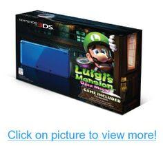 Cobalt Blue Nintendo System With Luigi's Mansion: Dark Moon Bundle Luigi's Mansion Dark Moon, Nintendo Handheld, Nintendo 3ds Games, Black Friday Specials, Mario And Luigi, Super Mario Bros, Video Game Console, Cobalt Blue, Mansions
